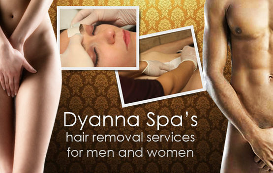 Dyanna Spa's hair removal services for men and women